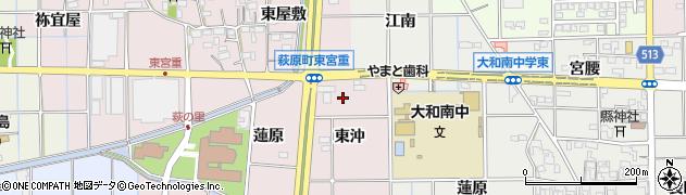 愛知県一宮市萩原町東宮重(東沖)周辺の地図