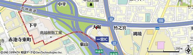愛知県一宮市丹陽町九日市場(大堀)周辺の地図