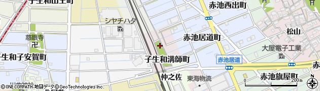 愛知県稲沢市子生和溝師町周辺の地図
