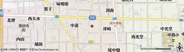 愛知県一宮市萩原町高木周辺の地図