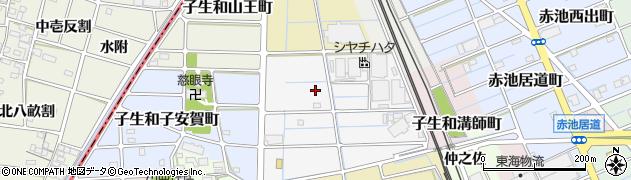 愛知県稲沢市子生和神明町周辺の地図
