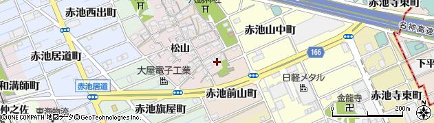 愛知県稲沢市赤池町(前山)周辺の地図