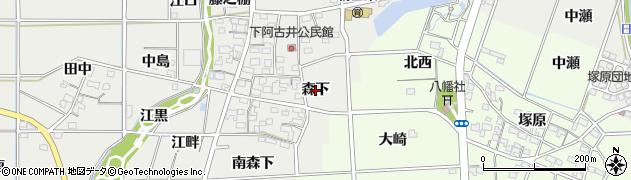 愛知県一宮市明地(森下)周辺の地図