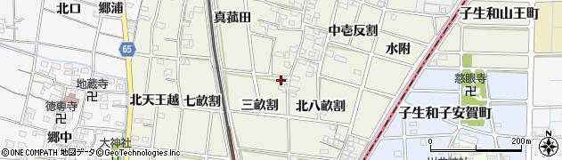愛知県一宮市大和町氏永(三畝割)周辺の地図
