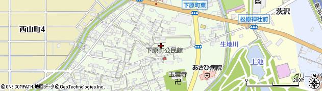 愛知県春日井市下原町周辺の地図