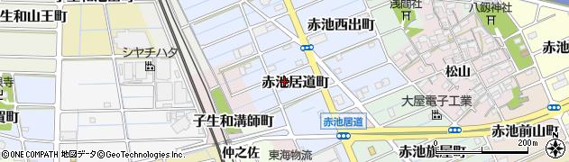 愛知県稲沢市赤池居道町周辺の地図
