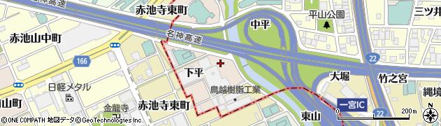 愛知県一宮市丹陽町三ツ井周辺の地図