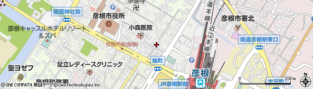 滋賀県彦根市旭町周辺の地図