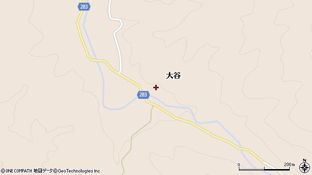 〒682-0315 鳥取県東伯郡三朝町大谷の地図