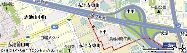 愛知県一宮市丹陽町三ツ井(下平)周辺の地図