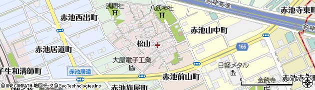 愛知県稲沢市赤池町(松山)周辺の地図