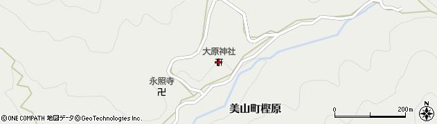 大原神社周辺の地図
