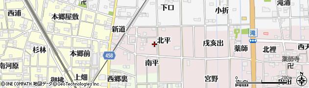 愛知県一宮市萩原町滝(東天水)周辺の地図