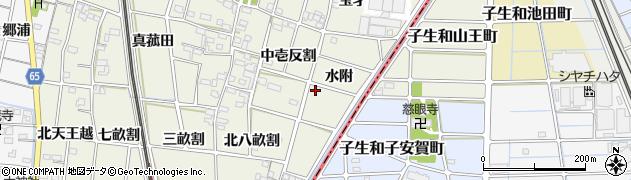 愛知県一宮市大和町氏永(水附)周辺の地図