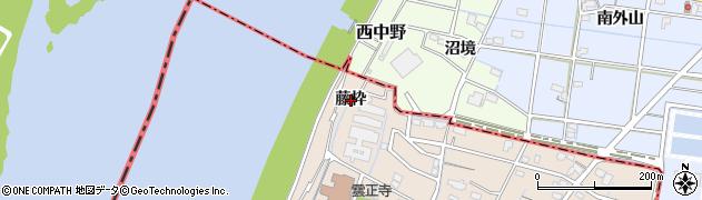 愛知県稲沢市祖父江町祖父江(藤枠)周辺の地図