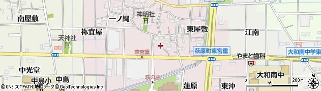 愛知県一宮市萩原町東宮重(長原)周辺の地図