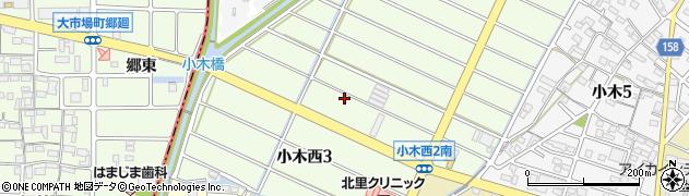 愛知県小牧市小木西周辺の地図