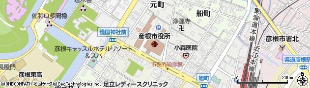 滋賀県彦根市周辺の地図
