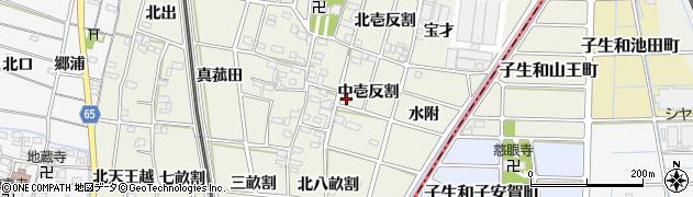 愛知県一宮市大和町氏永(中壱反割)周辺の地図
