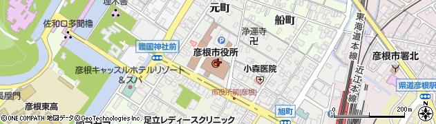 滋賀県彦根市元町周辺の地図
