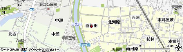 愛知県一宮市萩原町戸苅(酉新田)周辺の地図