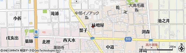 愛知県一宮市萩原町高木(味噌屋)周辺の地図