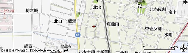 愛知県一宮市大和町氏永(西瀬古屋敷)周辺の地図