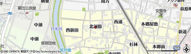 愛知県一宮市萩原町戸苅(北河原)周辺の地図