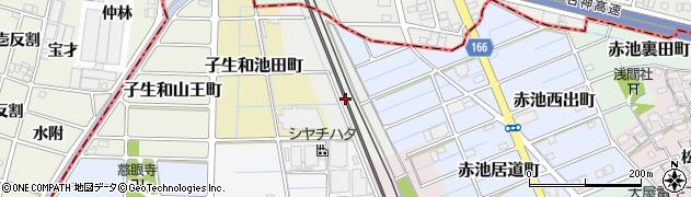 愛知県稲沢市赤池池田町周辺の地図