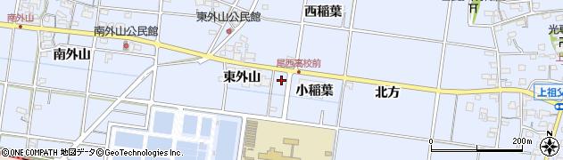 愛知県一宮市上祖父江(平西)周辺の地図
