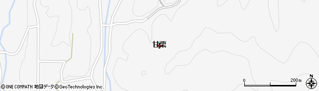 京都府福知山市甘栗周辺の地図