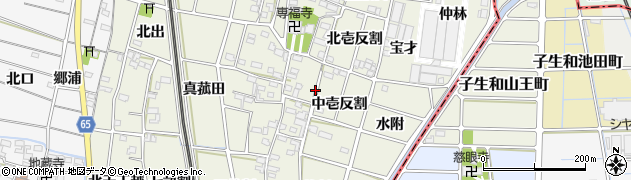 愛知県一宮市大和町氏永周辺の地図