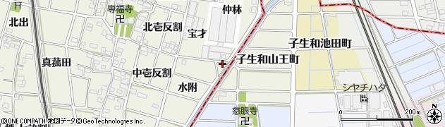 愛知県一宮市大和町氏永(仲林)周辺の地図