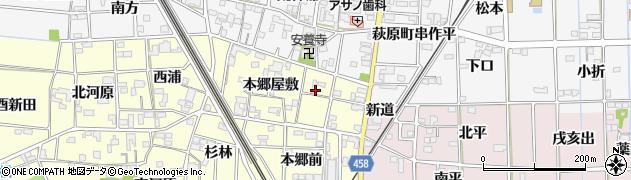 愛知県一宮市萩原町滝(用水西)周辺の地図