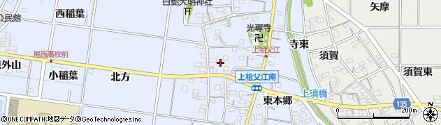 愛知県一宮市上祖父江(西本郷)周辺の地図