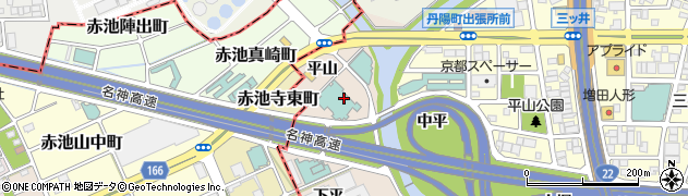 愛知県一宮市丹陽町三ツ井(平山)周辺の地図