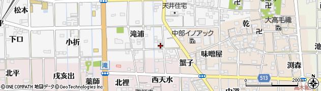 愛知県一宮市萩原町串作(滝浦)周辺の地図