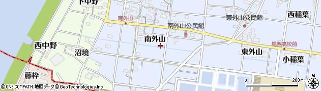 愛知県一宮市上祖父江(南外山)周辺の地図