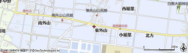 愛知県一宮市上祖父江(東外山)周辺の地図