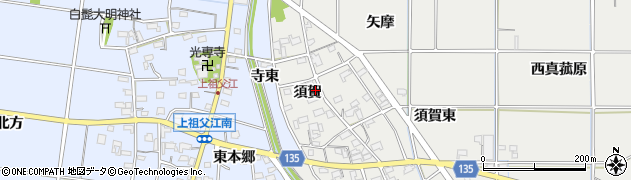 愛知県一宮市明地(須賀)周辺の地図
