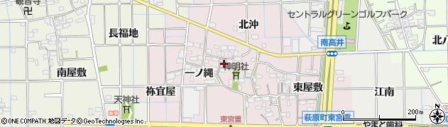 愛知県一宮市萩原町東宮重(西屋敷)周辺の地図