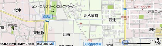愛知県一宮市大和町北高井(八畝割)周辺の地図