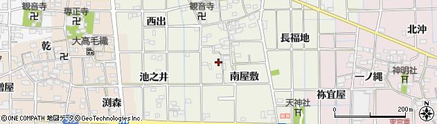 愛知県一宮市萩原町西宮重(貝吹)周辺の地図