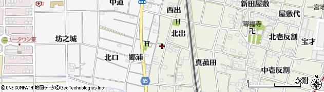 愛知県一宮市大和町氏永(西出)周辺の地図