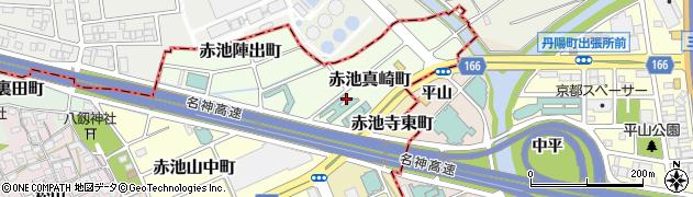 愛知県稲沢市赤池真崎町周辺の地図