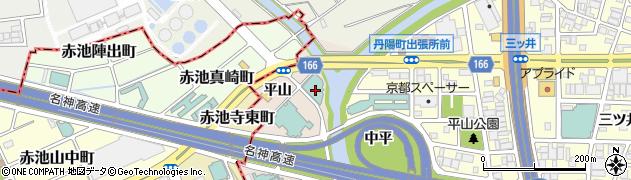 愛知県一宮市丹陽町三ツ井(西平)周辺の地図