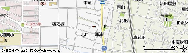 愛知県一宮市大和町於保(北口)周辺の地図