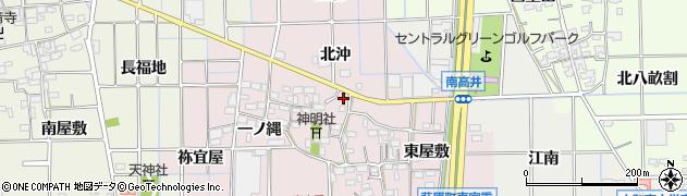 愛知県一宮市萩原町東宮重(北東沖)周辺の地図