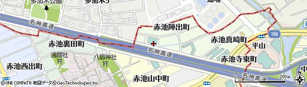 愛知県稲沢市赤池町(陣出)周辺の地図