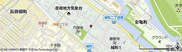 滋賀県彦根市城町周辺の地図